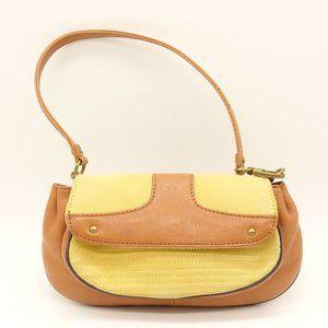 COLE HAAN Small Handbag Tan & Beige Leather Bag
